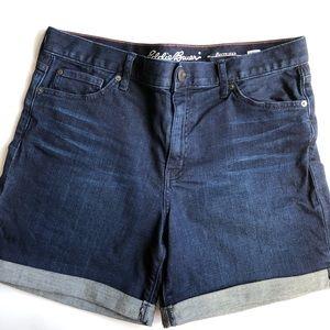 Old Navy Dark Blue Boyfriend Jean Shorts 10